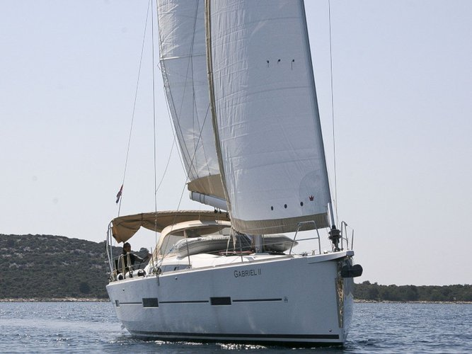 Hop aboard this amazing sailboat rental in Rogoznica!