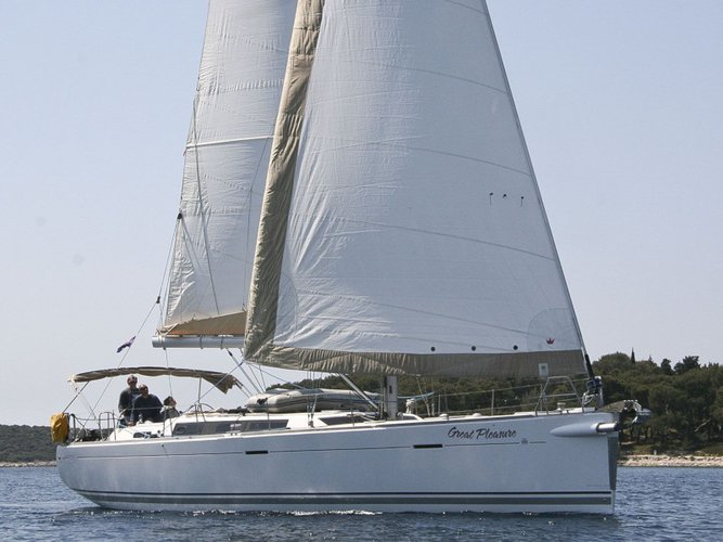 Sail the beautiful waters of Rogoznica on this cozy Dufour Yachts Dufour 485 Grand Large