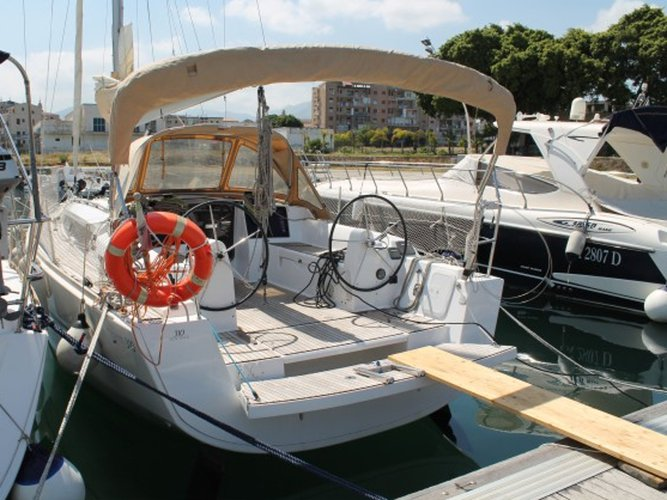 Sail the beautiful waters of Palermo on this cozy Dufour Yachts Dufour 310