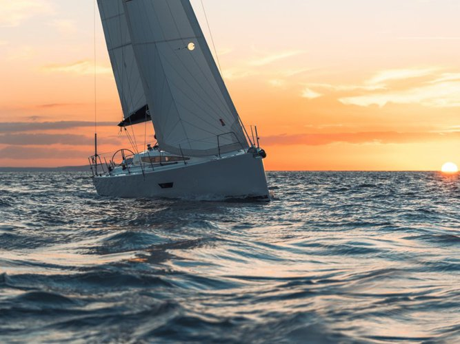 Experience Pirovac on board this elegant sailboat