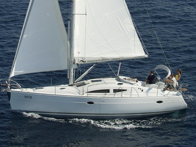 Sail the beautiful waters of Biograd on this cozy Elan Elan 384 Impression