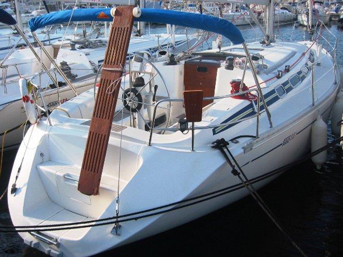 Sail the beautiful waters of Vodice on this cozy Elan Elan 38