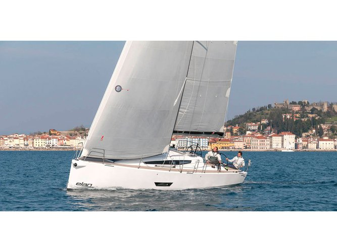 Sail the beautiful waters of Punat, Krk on this cozy Elan Elan E5
