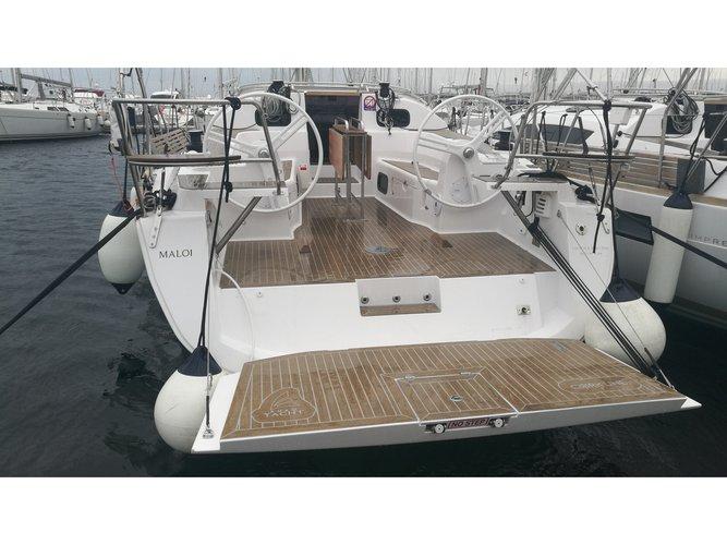 Sail the beautiful waters of Biograd on this cozy Elan Elan 40 Impression