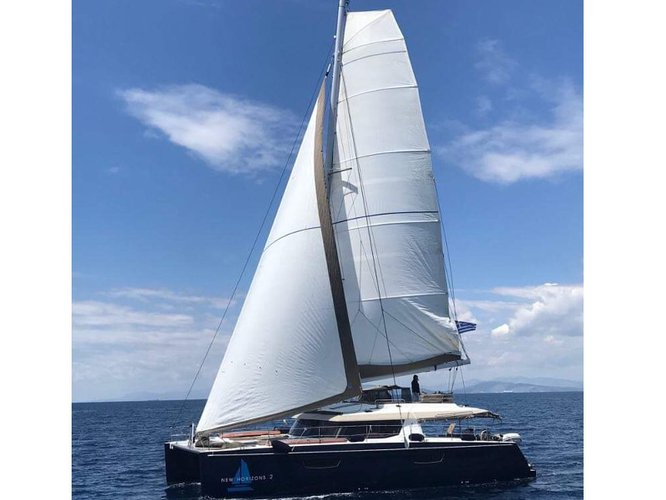 Jump aboard this beautiful Fountaine Pajot Saba 50