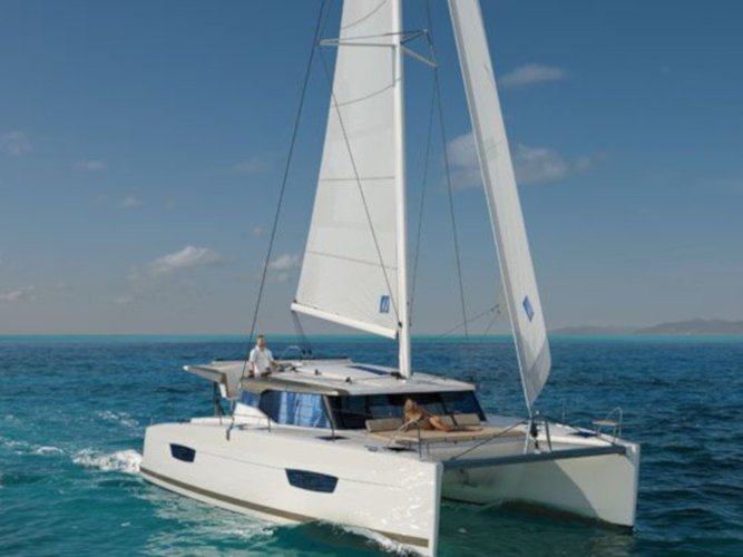 Get on the water and enjoy Pula in style on our Fountaine Pajot Lucia 40 - 3 cab