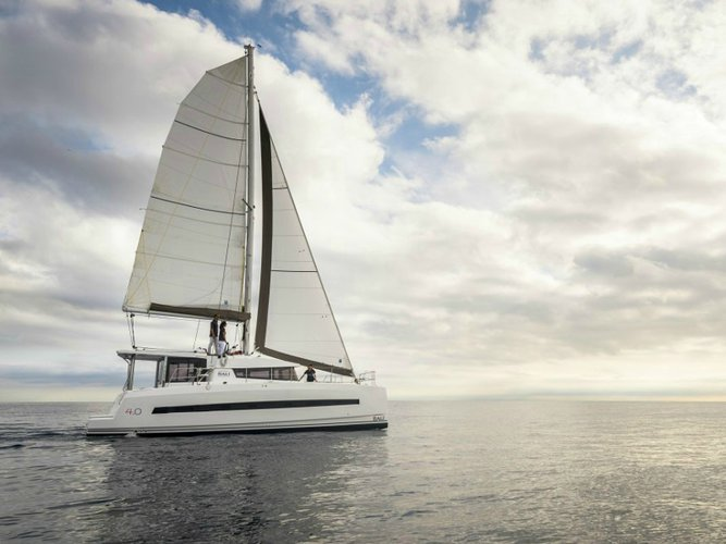 Jump aboard this beautiful Fountaine Pajot Lucia 40