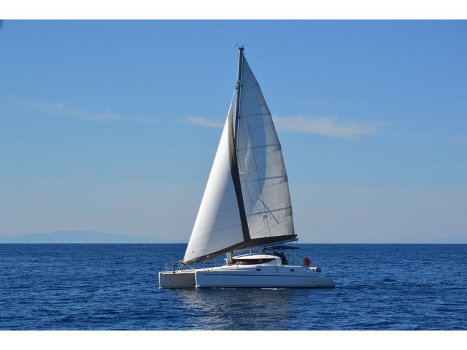 Charter this amazing Fountaine Pajot Athena 38 in Skiathos, GR