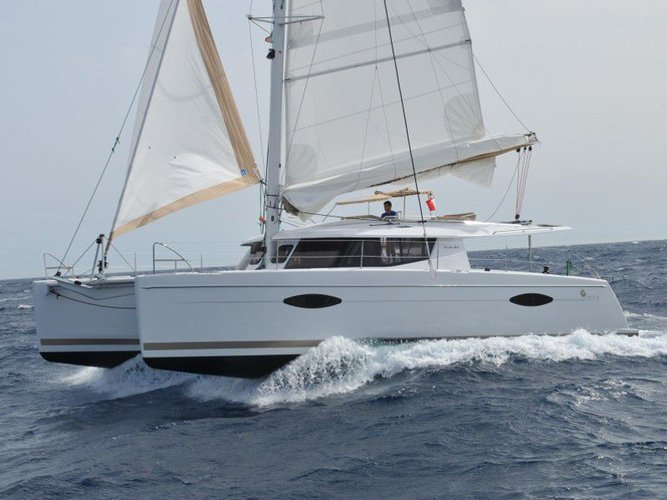 All you need to do is relax and have fun aboard the Fountaine Pajot Helia 44 Maestro