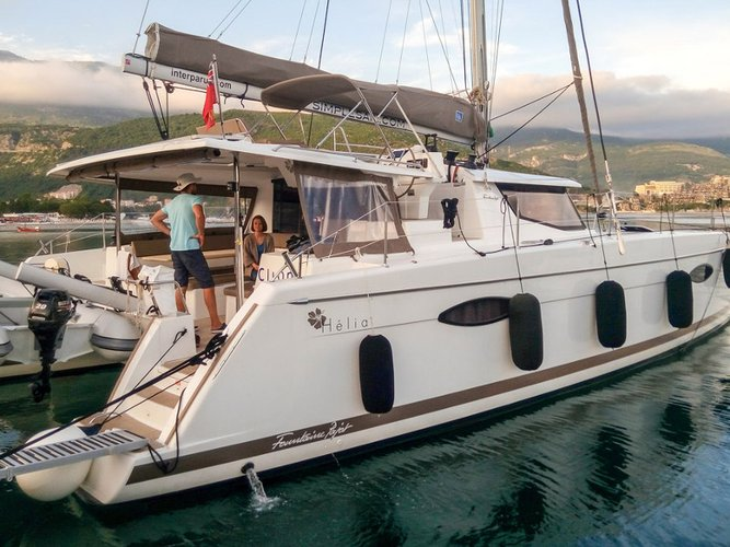 Enjoy luxury and comfort on this Fountaine Pajot Helia 44 (3 cab) in Tivat
