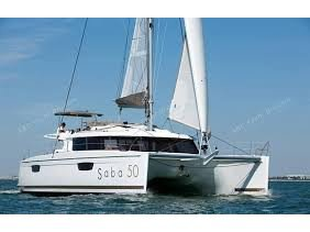 Sail Martinique, MQ waters on a beautiful Fountaine Pajot Saba 50