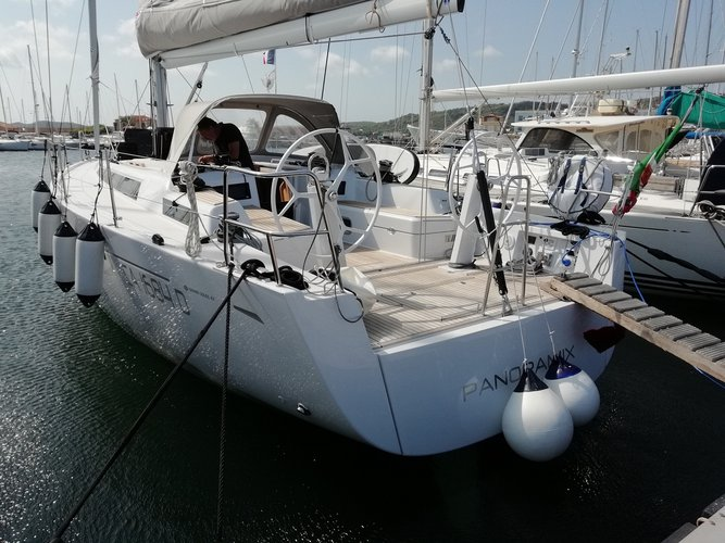 Explore Carloforte on this beautiful sailboat for rent