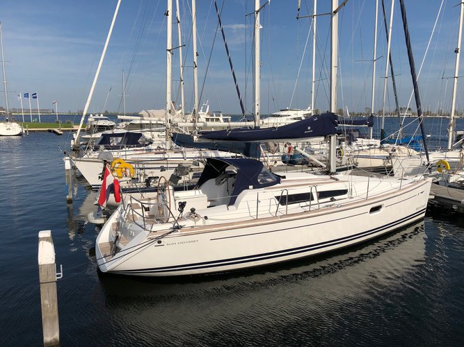 Rent this Jeanneau Sun Odyssey 36i for a true nautical adventure