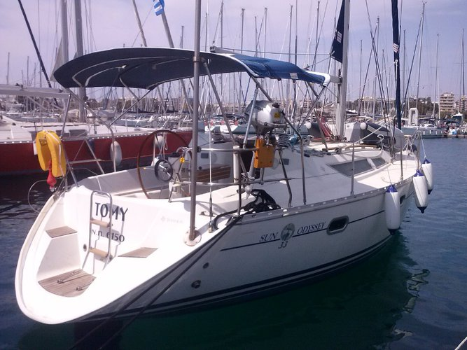 Climb aboard this Jeanneau Sun Odyssey 33 for an unforgettable experience
