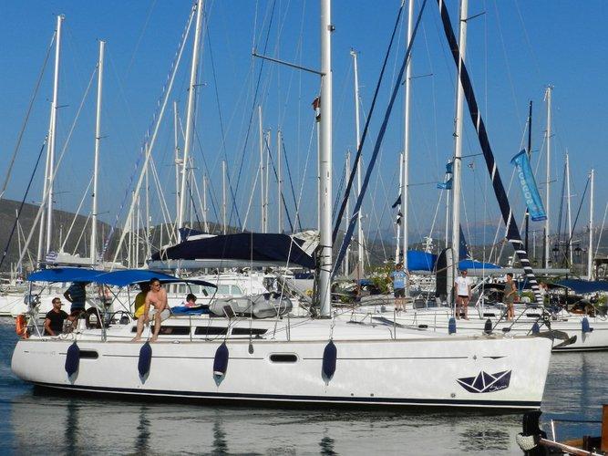 Experience Lefkada, GR on board this amazing Jeanneau Sun Odyssey 42 i