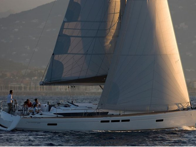 Sail the beautiful waters of Athens on this cozy Jeanneau Sun Odyssey 519 -  6 cabs