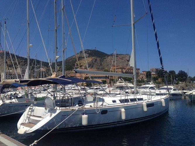 Sail Palermo, IT waters on a beautiful Jeanneau Sun Odyssey 49i
