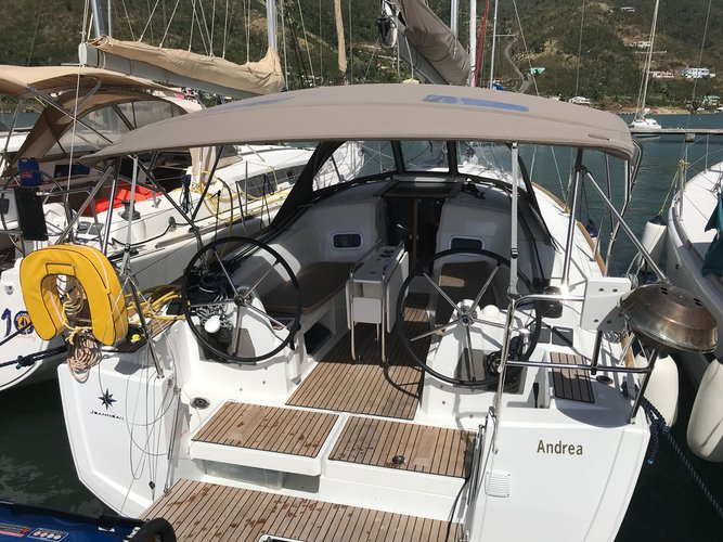 Explore Sea Cow's Bay on this beautiful sailboat for rent