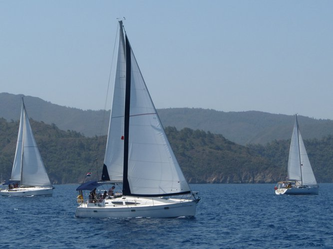 Hop aboard this amazing sailboat rental in Fethiye!