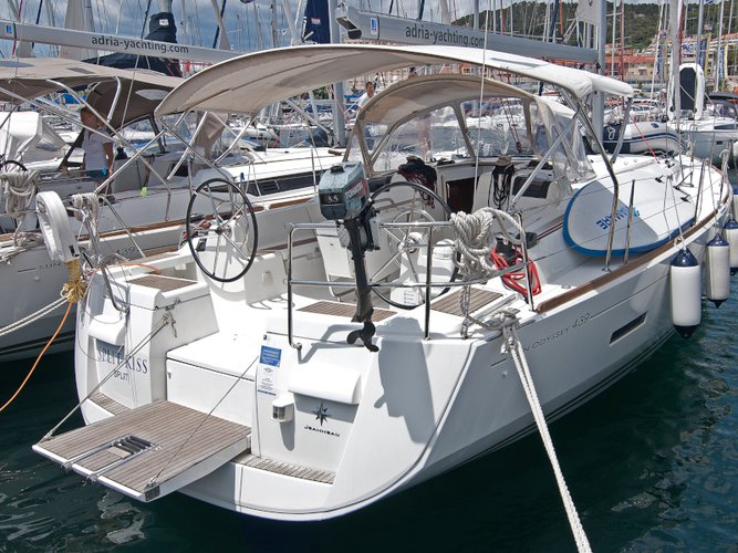 Climb aboard this Jeanneau Sun Odyssey 439 for an unforgettable experience
