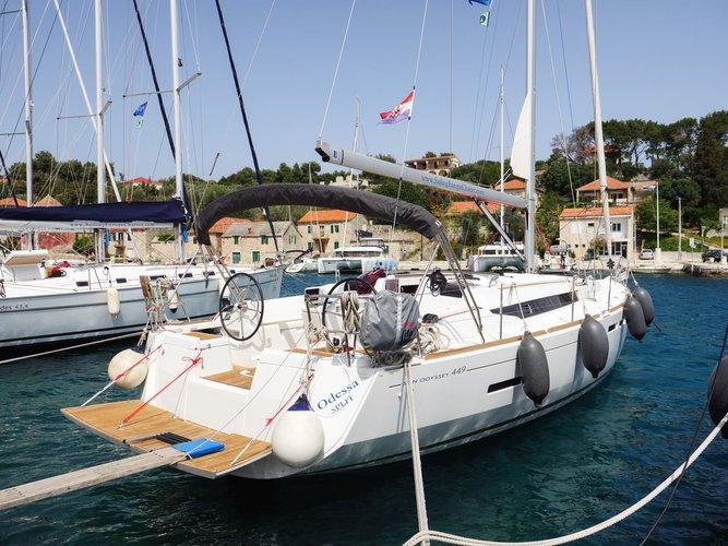 Enjoy Šolta, HR to the fullest on our comfortable Jeanneau Sun Odyssey 449