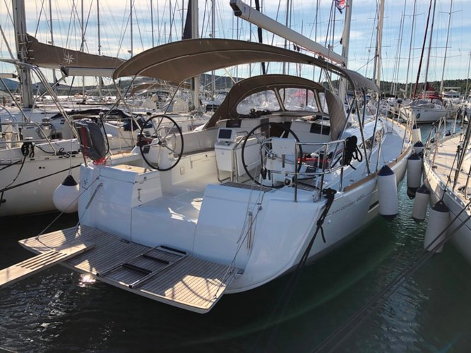 Enjoy luxury and comfort on this Biograd sailboat charter