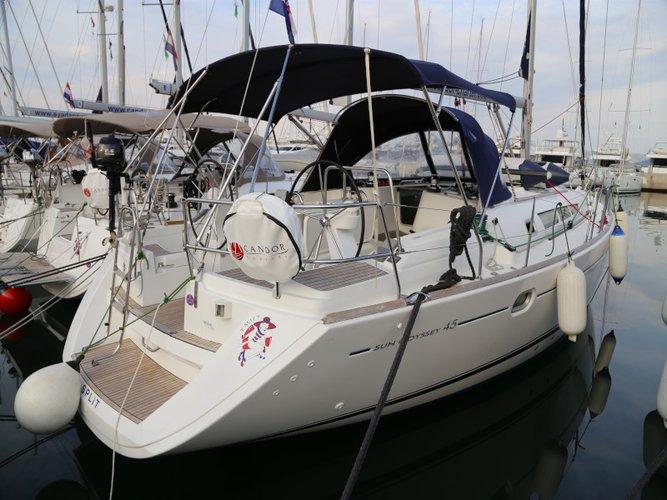 Experience Kaštel Gomilica, HR on board this amazing Jeanneau Sun Odyssey 45