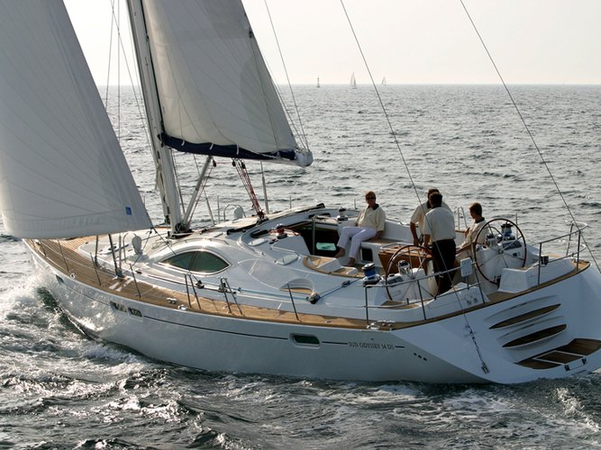 Sail Paros, GR waters on a beautiful Jeanneau Sun Odyssey 54DS