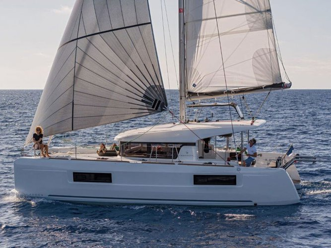 Enjoy luxury and comfort on this Ibiza - Sant Antoni de Portmany sailboat charter