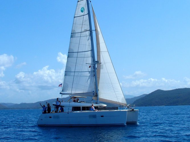 Sail Fethiye, TR waters on a beautiful Lagoon Lagoon 400
