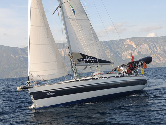 All you need to do is relax and have fun aboard the Poncin Yachts Harmony 42
