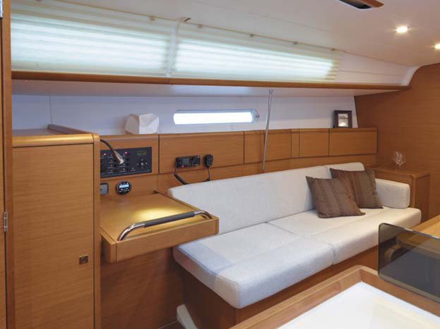 Up to 7 persons can enjoy a ride on this Motorsailer boat