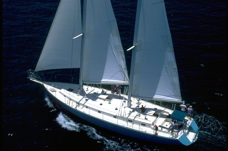 Wonderful Private Luxury Sailing on a 74-foot Schooner for 6 to 41 guests.