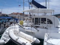 Sail the beautiful waters of Murter on this cozy Lagoon Lagoon 380