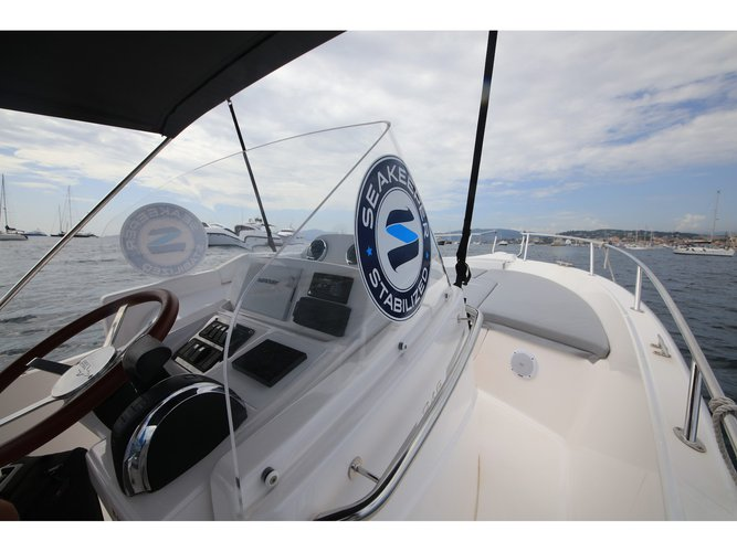 Enjoy luxury and comfort on this Viareggio motor boat charter