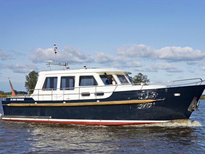 Hop aboard this amazing motor boat rental in Brandenburg an der Havel!