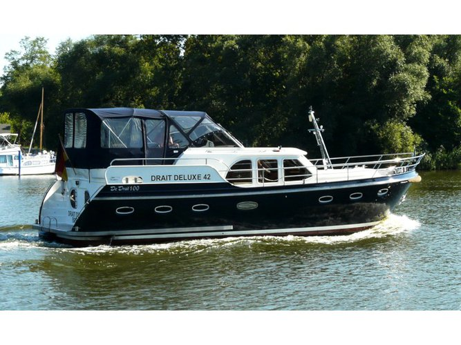 Sail the beautiful waters of Brandenburg an der Havel on this cozy  DeLuxe 42
