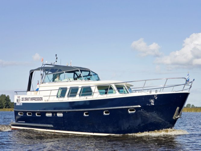 Discover Drachten in style boating on this motor boat rental