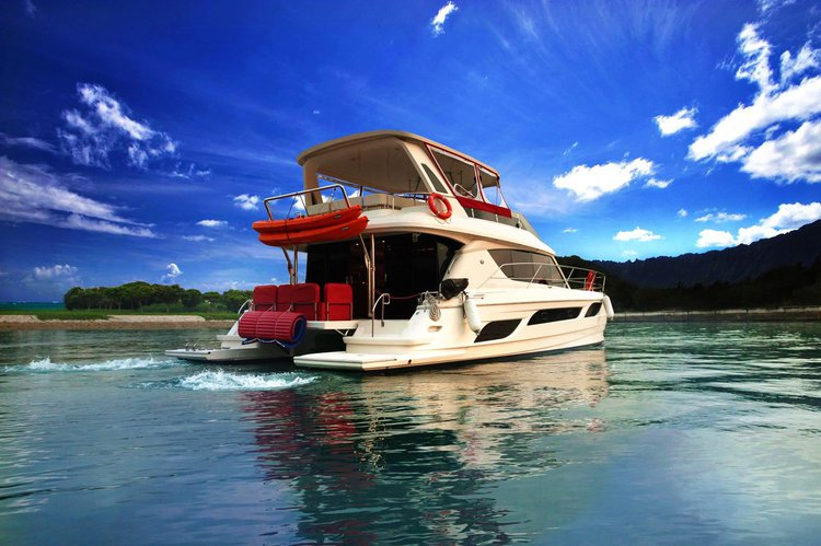 Experience Singapore on board this elegant  catamaran