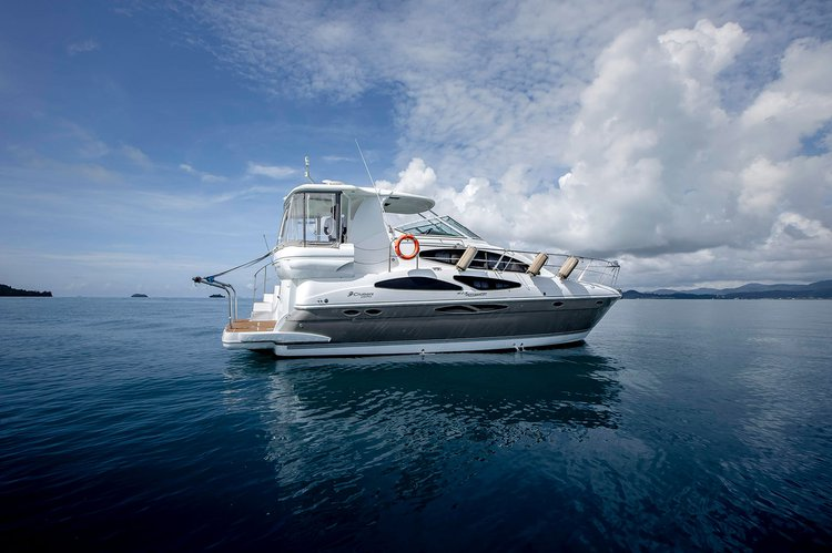 Enjoy luxury and comfort on this Phuket motor boat rental
