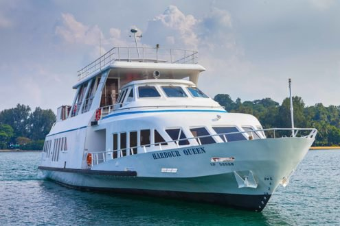Climb aboard this Mega Yacht for a great experience!