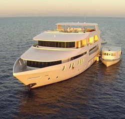 Have fun in the sun on this Malé Mega Yacht charter