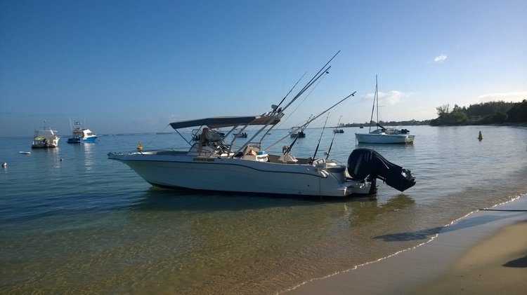 Hop aboard this amazing motor boat rental in Mauritius!