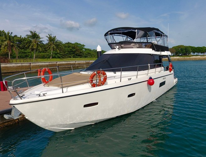 Motor yacht boat rental in Marina Sentosa Cove, Singapore
