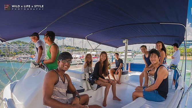 Up to 23 persons can enjoy a ride on this Catamaran boat