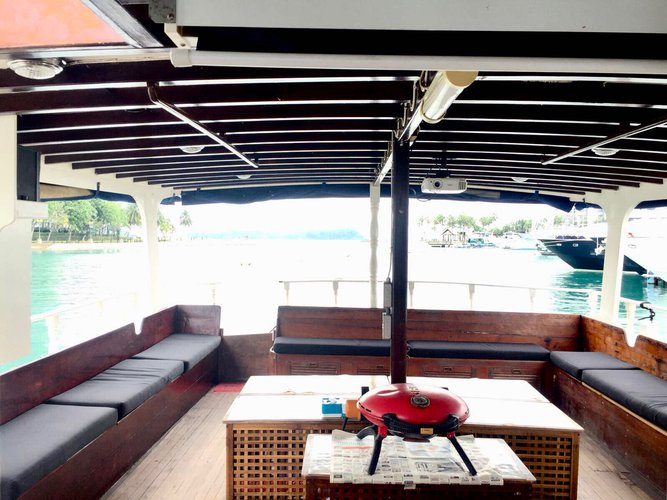 Motor yacht boat for rent in Marina Sentosa Cove