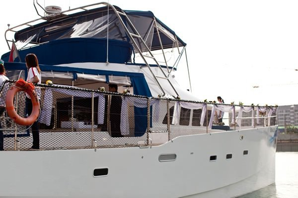 Boating is fun with a Catamaran in Marina Sentosa Cove