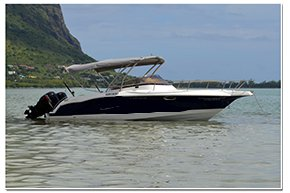Discover Bel Ombre surroundings on this Custom Custom boat
