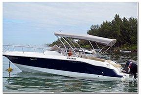 Motor boat boat for rent in Bel Ombre
