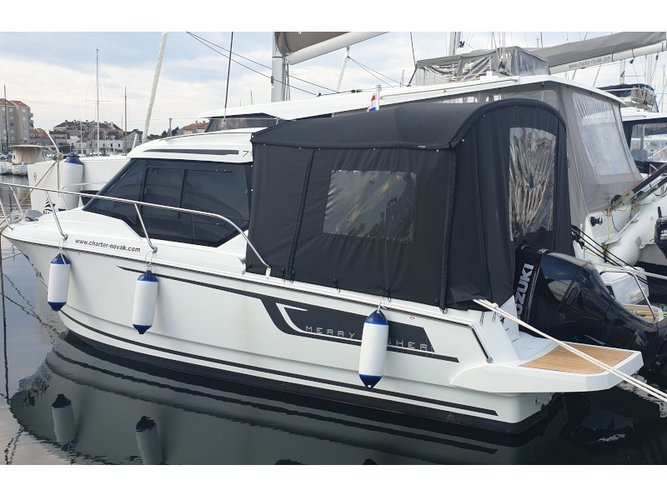 Get on the water and enjoy Biograd in style on our Jeanneau Merry Fisher 795